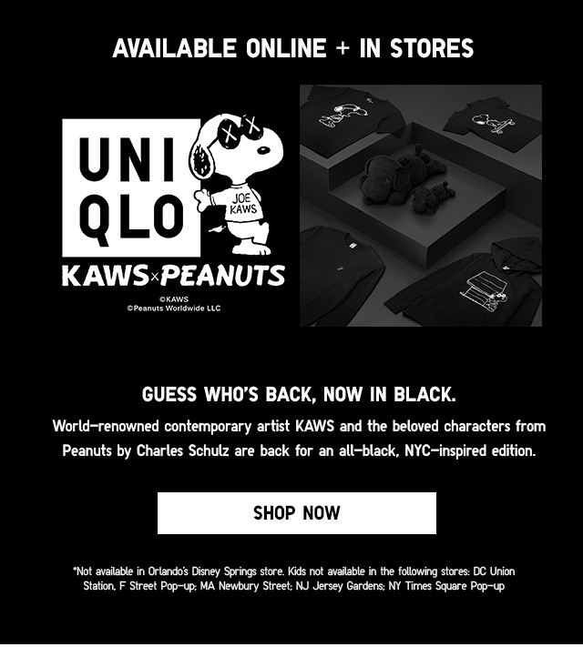 Available online + in stores - KAWS x PEANUTS -- Shop Now