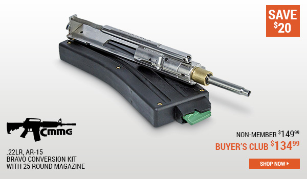 CMMG .22LR, AR-15 Bravo Conversion Kit With 25 Round Magazine