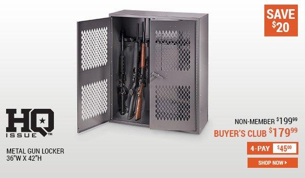 HQ Issue Metal Gun Locker 36 Inches W X 42 Inches H
