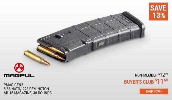 Magpul PMAG Gen2 5.56 NATO/.223 Remington AR-15 Magazine, 30 Rounds