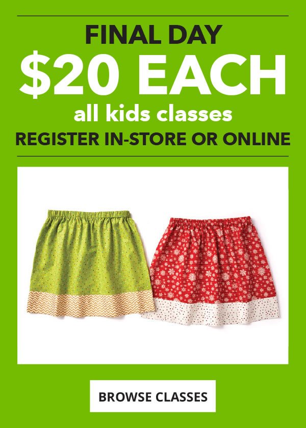 FINAL DAY. All Kids Classes Only Dollar 20 each. BROWSE CLASSES.
