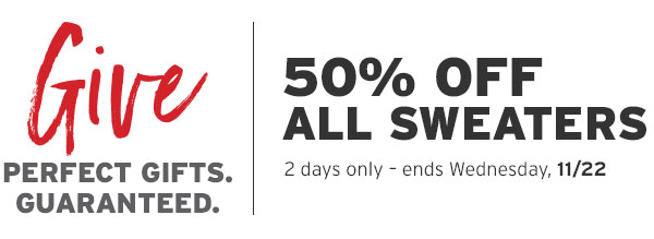 50% OFF ALL SWEATERS | SHOP SWEATERS