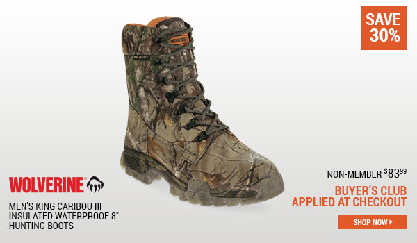Wolverine Men's King Caribou III Insulated Waterproof 8 Inch Hunting Boots