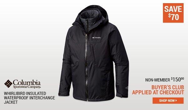 Columbia Men's Whirlibird Insulated Waterproof Interchange Jacket