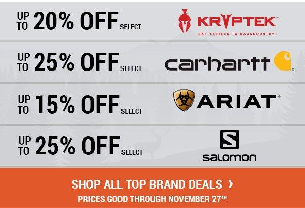 Shop All Top Brand Deals. Prices Good Through November 27, 2017.