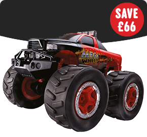 4x4 Radio Control Mega Wheels Monster