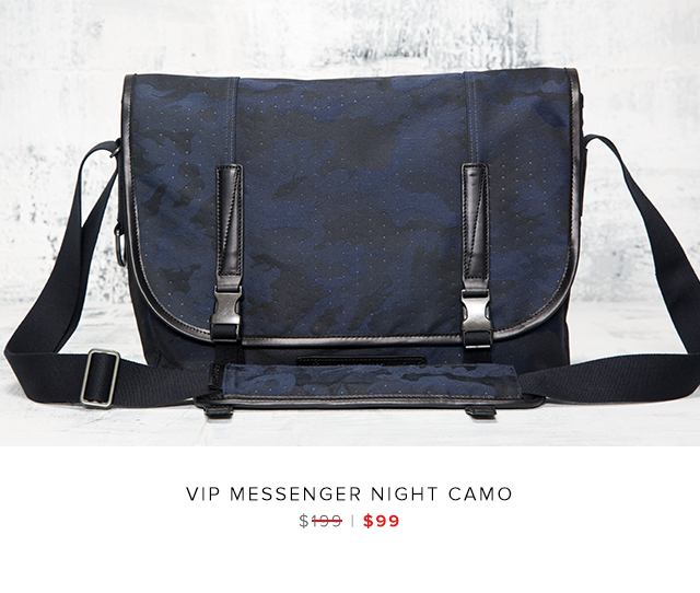 VIP messenger Night camo was $199 | now $99
