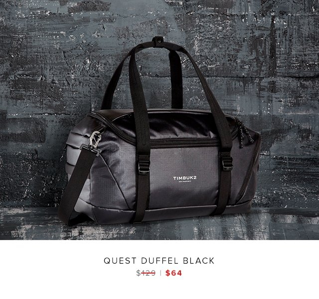 quest duffel black was $129 | now $64