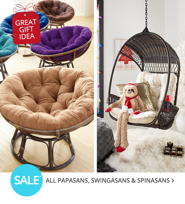 Sale all papasans, swingasans & spinasans