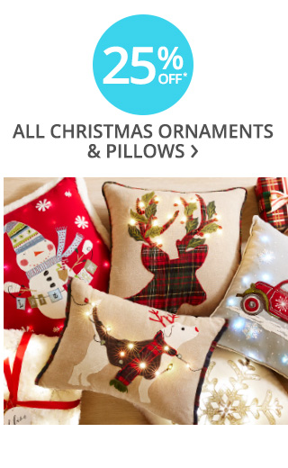 25% off all Christmas pillows