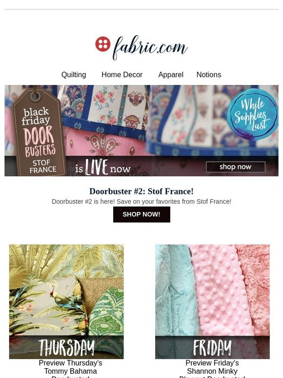 Stof France fabric: doorbuster #2: save on stof france! | milled