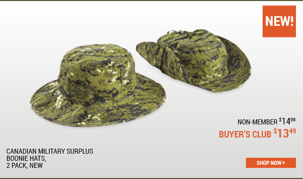 Canadian Military Surplus Boonie Hats, 2 Pack, New