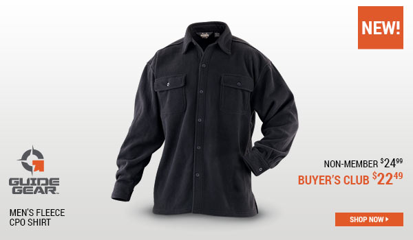 Guide Gear Men's Fleece CPO Shirt