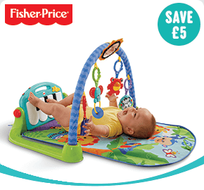 Fisher-Price Kick and Play Piano Gym Green