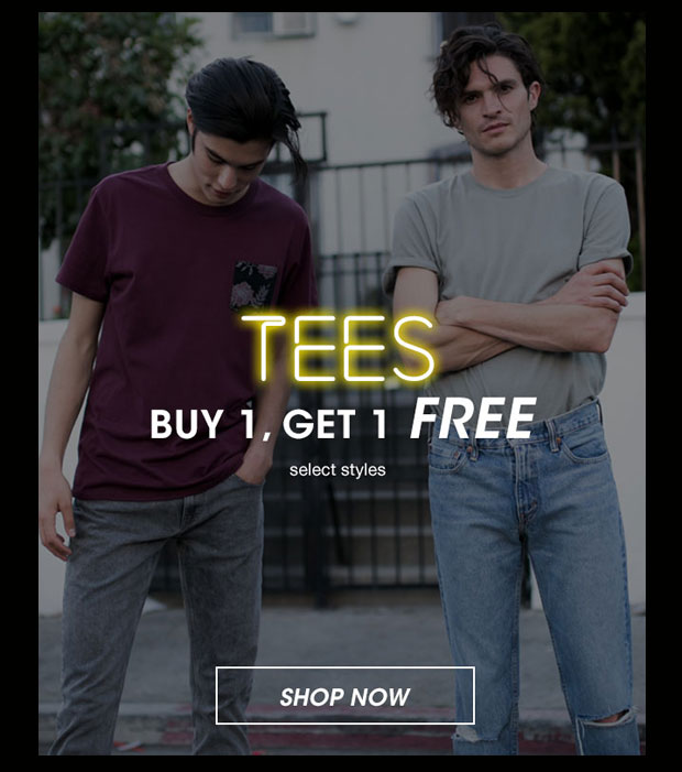 Mens Tees Buy 1, Get 1 Free - Shop Now