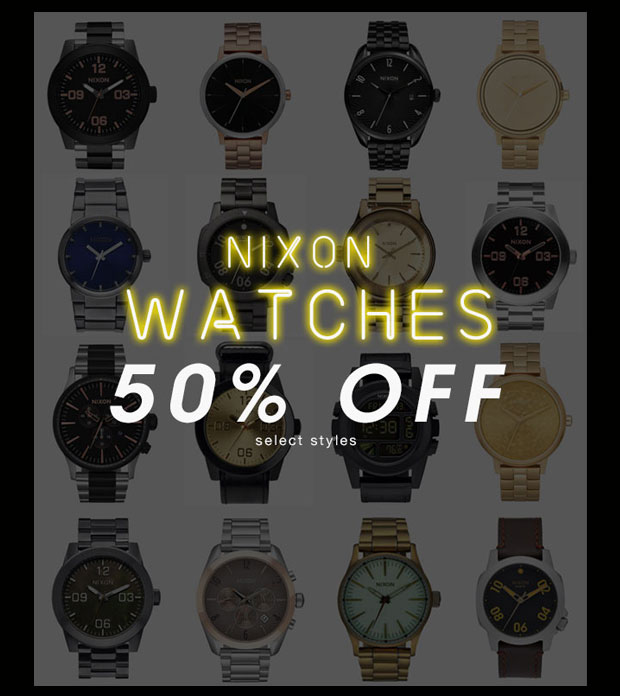 Nixon Watches 50% Off Select Styles - Shop Now