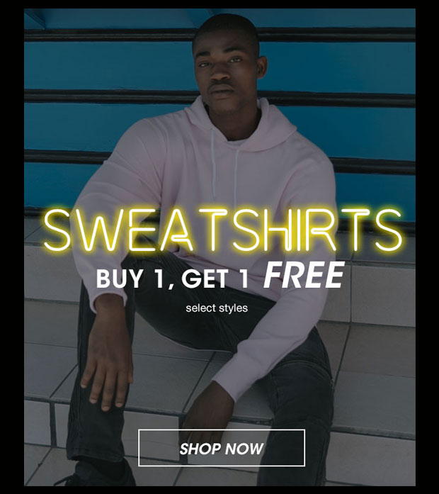 Mens Sweatshirts Buy 1, Get 1 Free - Shop Now