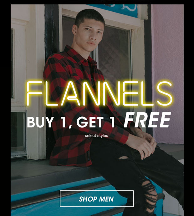 Flannels Buy 1, Get 1 Free - Shop Men