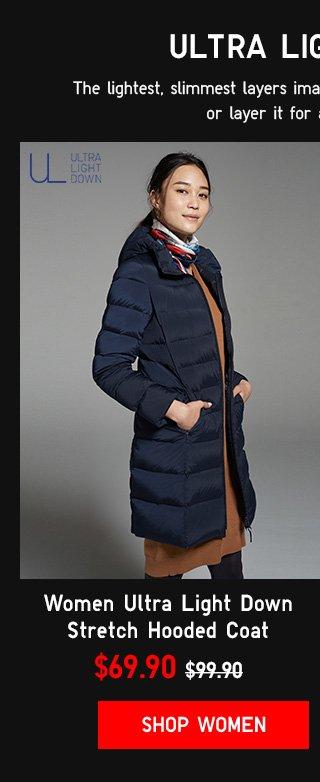 ULTRA LIGHT DOWN - Women Ultra Light Down Stretch Hooded Coat $69.90 - Shop Women