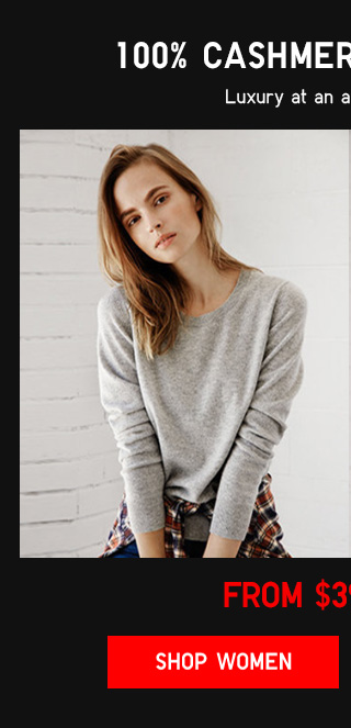 100% CASHMERE SWEATERS - FROM $39.90 - Shop Women