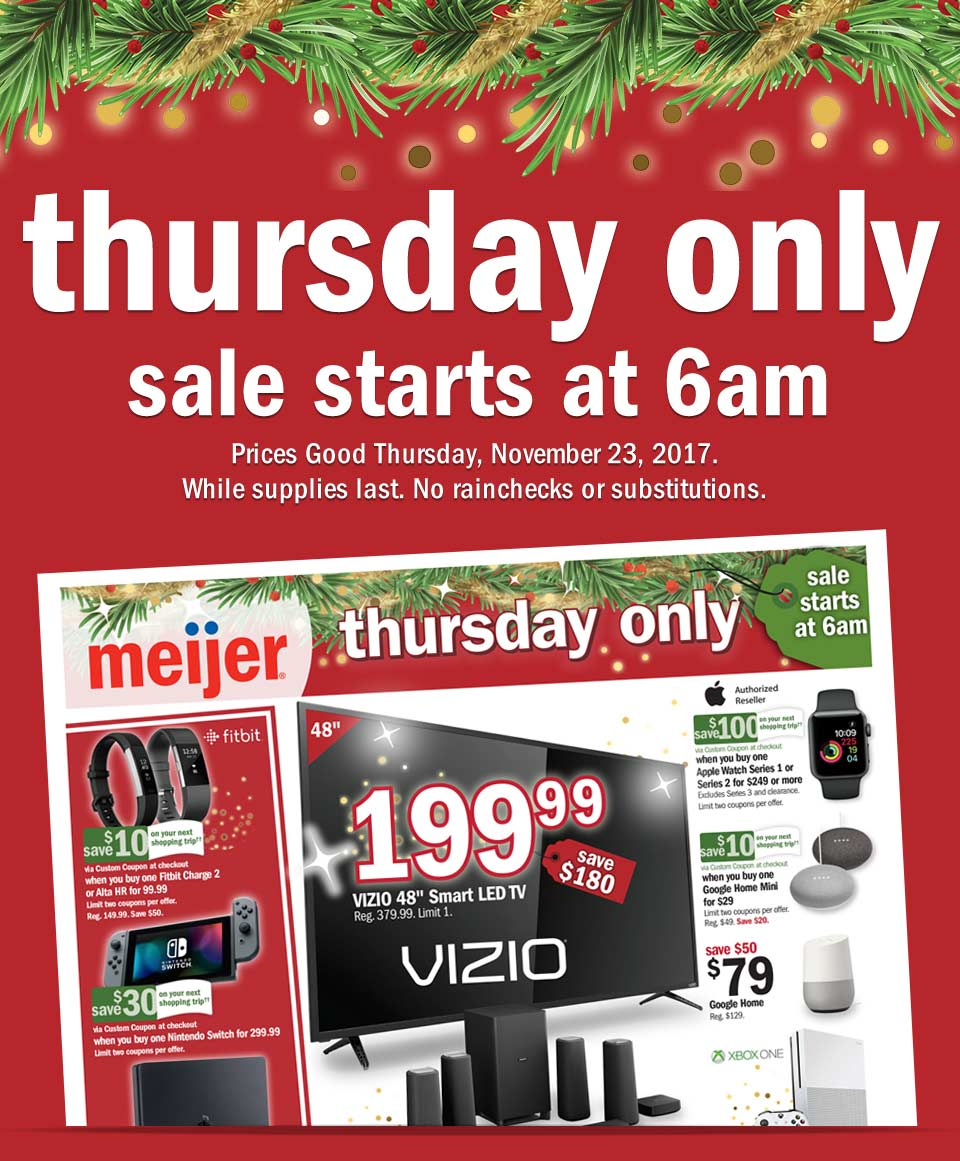 Meijer Christmas Eve Hours.Meijer Thursday Only Deals Milled