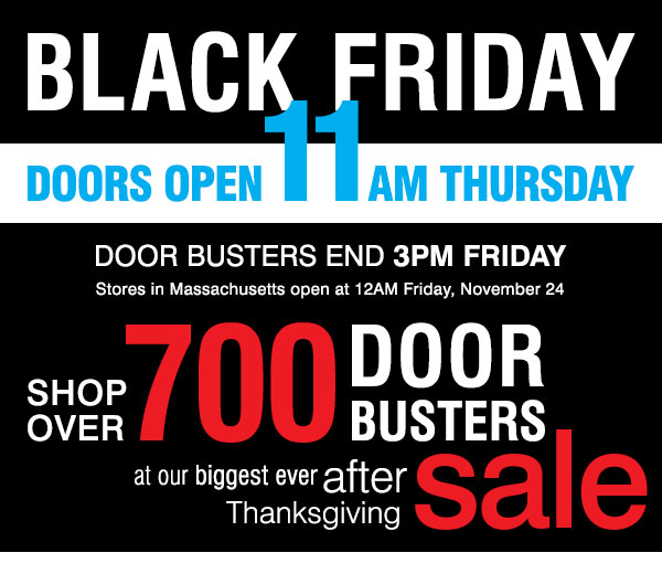 Doors open 11AM Thursday Door Busters end 3PM Friday. Shop OVER  sc 1 st  Milled & Carson\u0027s: Black Friday is Upon Us \u2022 700+ Door Busters Start In-Store ...
