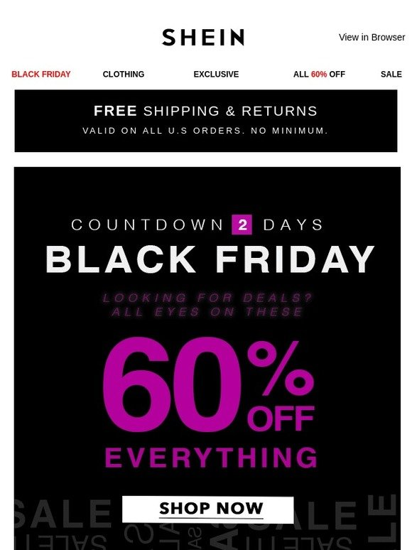 543816699e06 SheInside: Be the First to Shop Black Friday Sets! 60% Off Everything! |  Milled