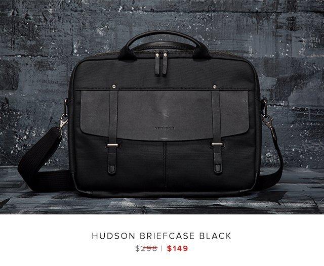 Hudson Briefcase black was $298 | now $149