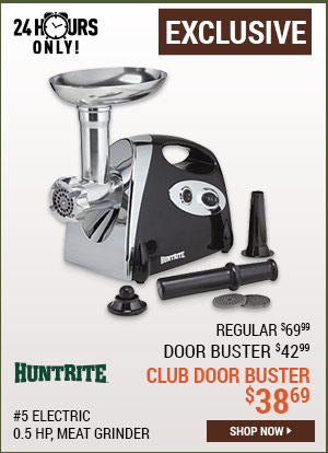 HuntRite #5 Electric Meat Grinder, 0.5 HP