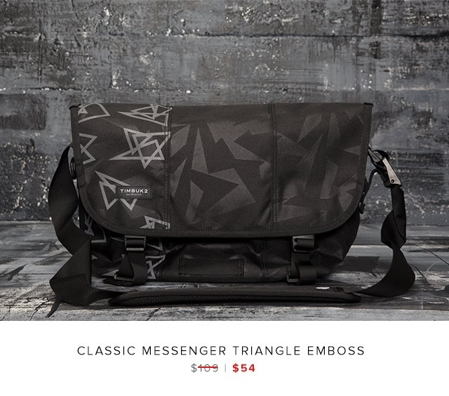 classic messenger triangle emboss was $109 | now $54