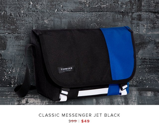 Clasic messenger jet black was $99 | now $49