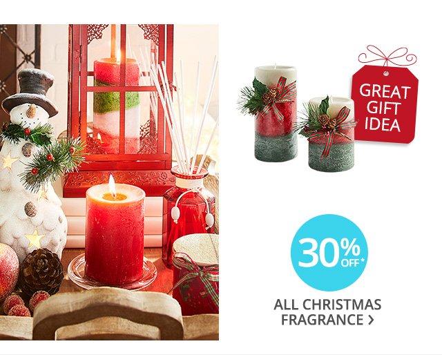 30% off all Christmas fragrance.