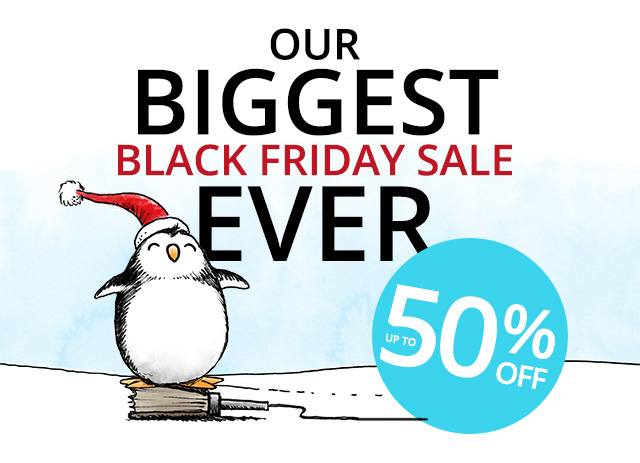 Our biggest Black Friday Sale ever starts now. Up to 50% off