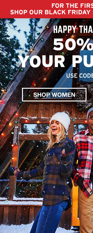 HAPPY THANKSGIVING- 50% OFF YOUR PURCHASE| SHOP WOMEN