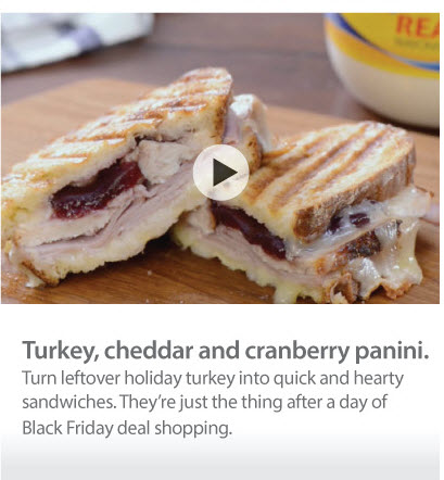 Turkey cheddar panini
