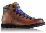 A men's brown hiking boot.