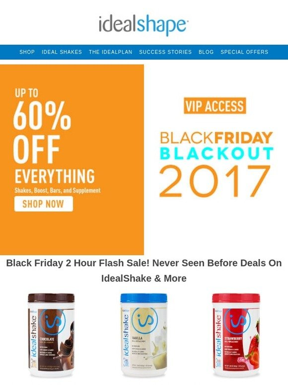 ideal shape black friday deals