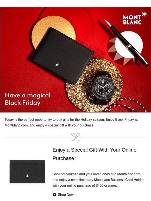 Montblanc your montblanc gift awaits you milled reheart Choice Image