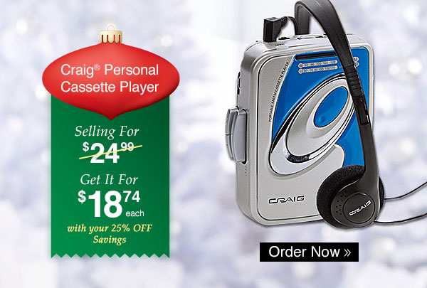 Craig Personal Cassette Player
