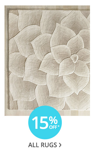 15% off all rugs.