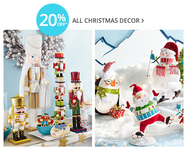 20% off all Christmas decor.