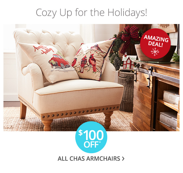 $100 off all Chas armchairs.