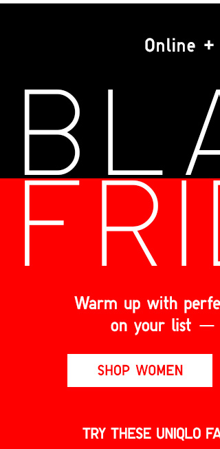 BLACK FRIDAY - Shop Women