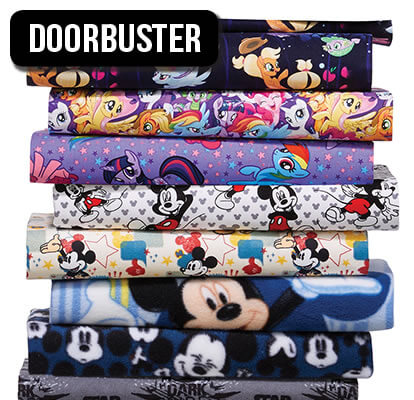 Licensed Character Fabric.