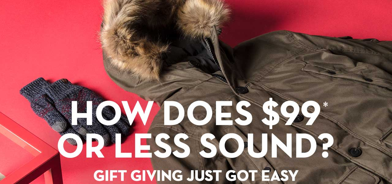 How Does $99* Or Less Sound? Gift Giving Just Got Easy