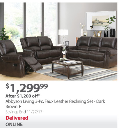 Abbyson reclining set