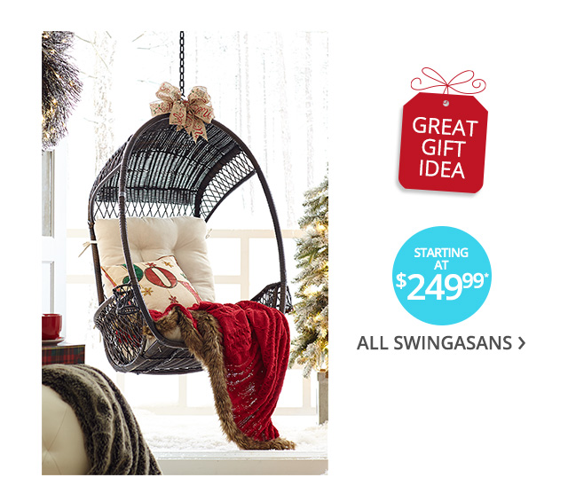 All swingasans starting at $249.99.