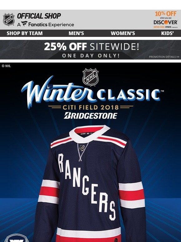 new styles e180c dfe24 Shop.NHL.com: NOW AVAILABLE: 2018 Winter Classic New York ...