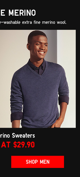 EXTRA FINE MERINO SWEATERS STARTING AT $29.90 - Shop Men