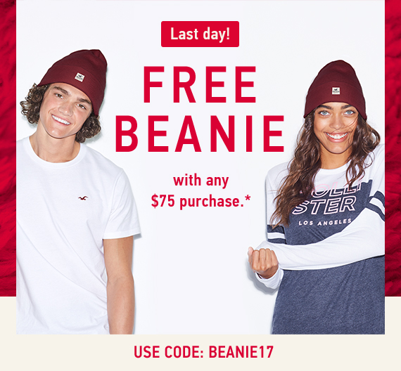 Free Beanie with Purchase of $75* Use code: BEANIE17